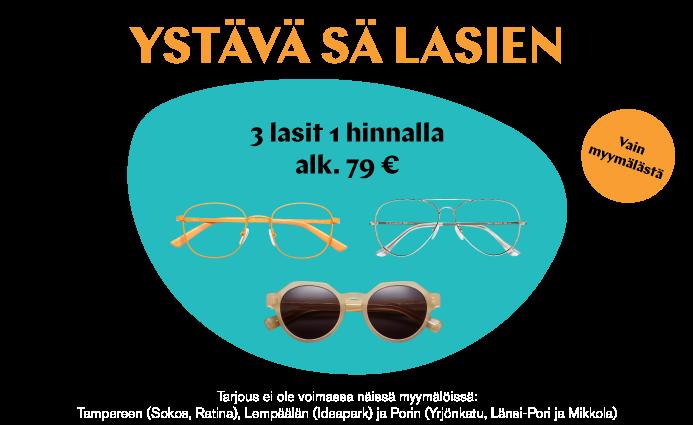 3 lasit 1 hinnalla