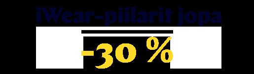 iWear-piilarit jopa -30 %