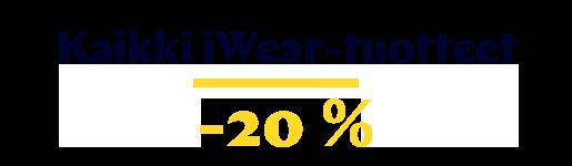 iWear-tuotteet -20 %