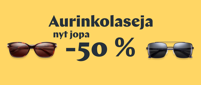 Aurinkolasi ale jopa -50%