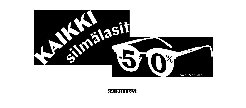 Kaikki silmälasit -50 % Black Friday